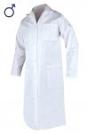 Pracovné odevy - Plášť ERIK pánsky biely (dlhý rukáv)