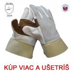 Pracovné rukavice ZIGO celokožené - cena od 1,70 €