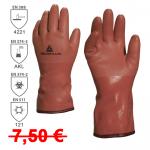 DOPREDAJ! Zateplené pracovné rukavice VE760, máčané v PVC na bavlnenom podklade,  dĺžka 30cm, Norma: EN 388 (4221), EN 511. Veľkosť: 10