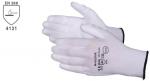 Pracovné rukavice PU-1001 biele