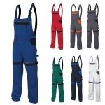 Pracovné odevy - Nohavice COOL TREND s náprsenkou