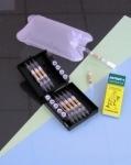 Sklenené trubičky k detekcii alkoholu. 10 ks + náustky