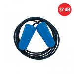 NA OBJEDNÁVKU! Jednorázové zátkové chrániče sluchu ED COMFORT z veľmi mäkkej PU peny modrej farby. SNR 37 dB.