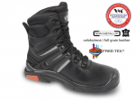 DODANIE 4-10 DNÍ! Poloholeňová pracovná obuv HOUSTON S3 s nekovovými bezpečnostnými prvkami. Kompozitná špica, kevlarová planžeta. Obuv z hladkej lícovej hovädzej usne, hydrofóbna úprava. Podšívka s membránou. Veľkosť: 39-48