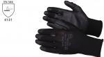 Pracovné rukavice PU-1001 čierne