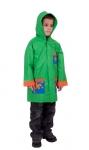 SKLADOM! detský nepremokavý pršiplášť, zapínanie na cvoky, zatavené švy,  100% PVC veľ.: 90-130 cm