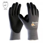 BEŽNE SKLADOM! Pracovné rukavice ATG ENDURANCE (34-844) s terčíkmi. Penové terčíky poskytujú dodatočné tlmenie nárazu, zvyšujú odolnosť proti oderu a zlepšujú úchop. Majú vynikajúce protišmykové vlastnosti. Veľkosť 9-11. Norma EN 388 (4131).
