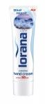SKLADOM! Krém na ruky LORANA modrá-blue island 100g. Regeneračný, upokojujúci a zvláčňujúci ochranný krém na ruky.
