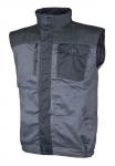 DODANIE 3-7 DNÍ!  Montérková vesta 4TECH,65% polyester, 35% bavlna, 240g/m2, zosilnené sedlo 600D polyester Oxford, reflexné lemy pre vyššiu viditeľnosť. Veľkosť: 48-64