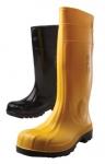 BEŽNE SKLADOM! Čižmy s oceľovou tužinkou a stielkou (S1P), určené k ochrane pred vodou, nečistotou, stlačením a prepichnutím, antistatická podošva, žlté, veľ. 37-48