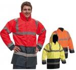 DODANIE 3-7 DNÍ!  Reflexná nepremokavá zateplená bunda SEFTON. Polyester s paropriepustnou vrstvou polyuretanu, kapucňa v golieri, výstražný odev podľa EN 471, ochrana proti dažďu a poveternostným vplyvom.  Veľkosť: S-3XL.