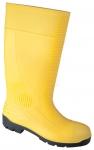 DODANIE 3-7 DNÍ! Pracovná obuv - čižmy. Zvršok- PVC materiál, vnútorná časť - polyester. Nitrilová podrážka- odolná proti olejom a kyselinám. Obsahuje oceľovú špicu a planžetu. Veľkosť:37-47 (mimo 46).