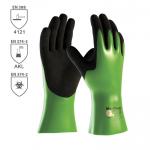 DODANIE 3-7 DNÍ! Pracovné rukavice ATG MAXICHEM 56-635 z nylonu/lycry máčané v nitrile a nitrilovej pene o hrúbke 1,3 mm. Výborná odolnosť voči chemikáliám. Oder stupeň 4. Veľkosť 7-11. Normy: EN 374-3, EN 374-2, EN 388 (4121)