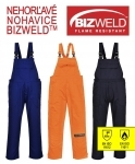 Pracovné odevy - Nohavice BIZ4 Bizweld s náprsenkou nehorľavé