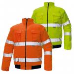 DODANIE 3-7 DNÍ! Zateplená nepremokavá reflexná bunda CLOVELLY PILOT s odopínateľnými rukávmi. Farba: oranžová. Norma: EN 471. Veľkosť: M-3XL.