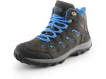 SKLADOM! MADAGASCAR členková obuv kombinovaná, moderný dizajn, čierno-modrá farebná kombinácia, zvršok zo semišovej kože s priedušnou tkaninou, podšívka z textilného materiálu, podošva TPR, veľkosť 28-35