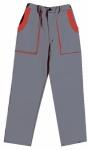 Montérkové nohavice do pása JOZEF sivo-červené