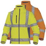 Pracovné odevy - Reflexná softshellová bunda MOONLIGHT2 2v1