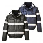 DODANIE 7-14 DNÍ! Nepremokavá bunda poskytuje výbornú viditeľnosť a zároveň dokonale udržuje v teple a suchu. Límec s fleecovou podšívkou. Farby: čierna, tm.modrá. Veľkosť: XS-3XL