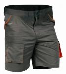 DODANIE 3-5 DNÍ! Montérkové nohavice DESMAN krátke - šortky. Moderný strih. 65%polyester/35%bavlna, 235g/m2. Kombinácia: šedá/oranžová.  Pánske prevedenie. Veľkosť: 48-62.