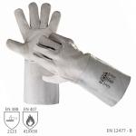 Pracovné rukavice MEL zváračské sivé