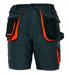 DODANIE 3-5 DNÍ! Montérkové krátke nohavice EMERTON, - materál:65% polyester, 35% bavlna, 270g/2, zosilnenie 600D Polyester  Farba: čierna Veľkosť: 48-62