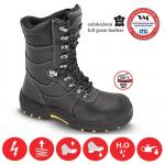 BEŽNE SKLADOM!  Poloholeňová bezpečnostná obuv GLASGOW S3, - zvršok: lícová hovädzia koža, vodeodolná - podšívka: termoizoločná textilia, - podošva: PU/TPU, olejozdorná, antistatická, - protišmyková,  - farba: čierna, - veľ.: 37- 48