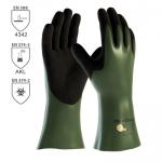 DODANIE 3-7 DNÍ! Pracovné rukavice ATG MAXICHEM CUT 56-633 z nylonu/lycry máčané v nitrile a nitrilovej pene o hrúbke 1,4 mm. Výborná odolnosť voči chemikáliám. Oder stupeň 4. Veľkosť 7-11. Normy: EN 374-3, EN 374-2, EN 388 (4342). Protiporez 3.