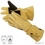 Pracovné rukavice CALANDRA zváračské žlté - cena od 8,33 €