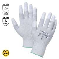 Antistatické rukavice A198 PU Fingertip