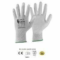 Antistatické rukavice CXS ADGARA ESD máčané v polyuretáne
