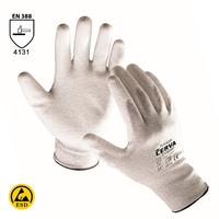 Antistatické rukavice FLICKER máčané v polyuretáne