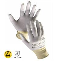 Antistatické rukavice TEREL ESD máčané v polyuretáne