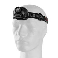 Čelovka 3W CREE XPE LED s pohybovým senzorom