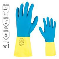 Chemické rukavice CHEM TOUCH latexové s neoprénom