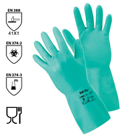 Chemické rukavice SOL-VEX 37-676 (Ansell) nitrilové