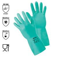 Chemické rukavice SOL-VEX 37-676 (Ansell) nitrilové (A*)