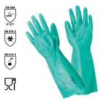 Chemické rukavice SOL-VEX 37-695 (Ansell) nitrilové (CR*)