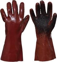 Chemické rukavice UNIVERSAL ROUGHENED 35cm PVC buničina