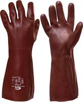 Chemické rukavice UNIVERSAL SANDY FINISH 45cm PVC