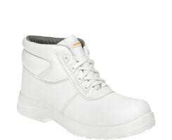 Členková pracovná obuv BENNON White Lacing O2 biela