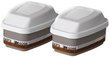 Filter 3M 6098 AXP3 - organické výpary, ortuť, častice (CR*)