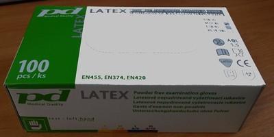 Jednorázové rukavice PD-LX-PWF latexové nepudrované