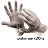 Jednorazové rukavice RAIL vinylové pudrované