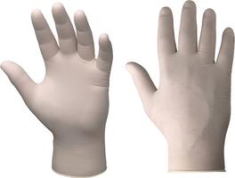 Jednorazové rukavice RUBETRA nepudrované latexové