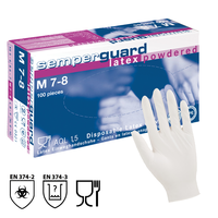 Jednorazové rukavice Semperguard Latex pudrované
