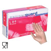 Jednorazové rukavice Semperguard VINYL nepudrované