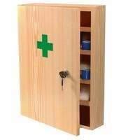 Lekárnička nástenná s náplňou (drevená) do 15 osôb