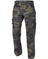 Montérkové nohavice CRAMBE do pása maskáčové