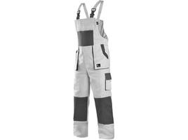 Nohavice CXS LUXY ROBIN s náprsenkou bielo-sivé č.64***